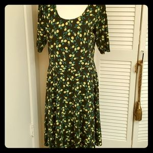 NET Lemon Pattern LulaRoe Dress